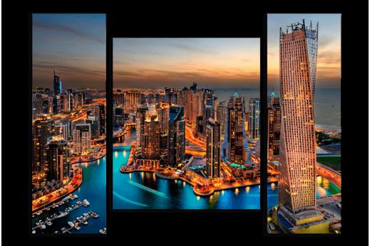Модульная картина Дубай на закате