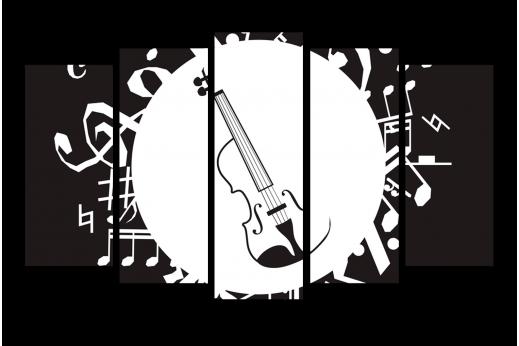 Модульная картина Музыкальная иллюстрация
